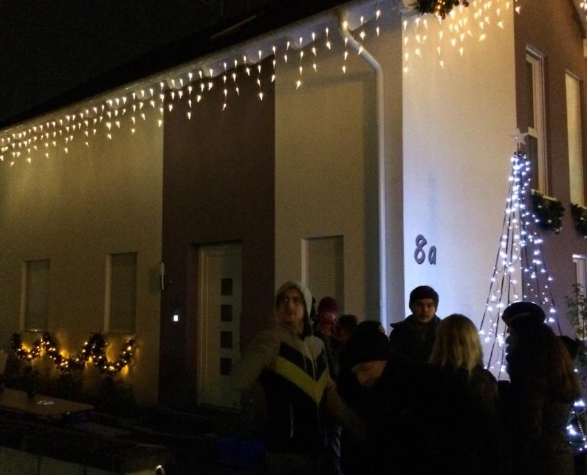 Die Einschaltparty des Weihnachtshaus Neureut 2013